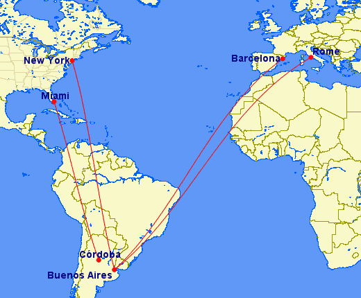 aerolineas argentinas route map Aerolineas Argentinas Cutting Usa Routes American Airlines Might aerolineas argentinas route map