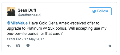 Does Upgrading Your Amex Use Up Your Once-Per-Lifetime Bonus