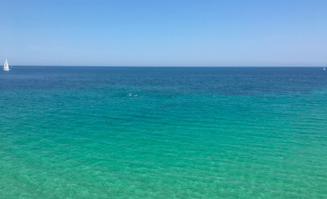 The coast of Puglia's stunning waters. Spiaggia de Porto Verde. Photo by Sarah Page Maxwell
