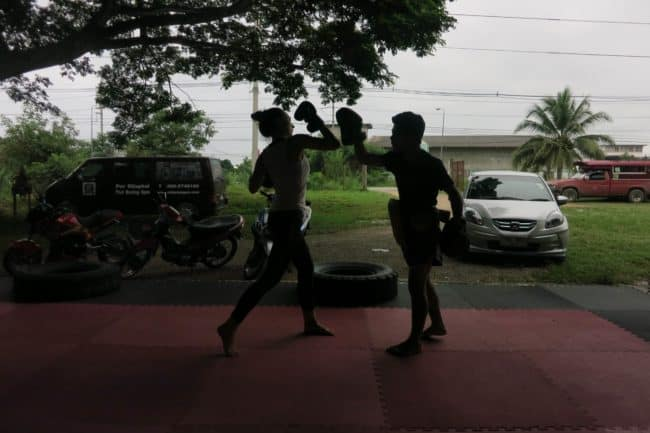 Muy Thai boxing outside of Chiang Mai. Photo by Sarah Page Maxwell.