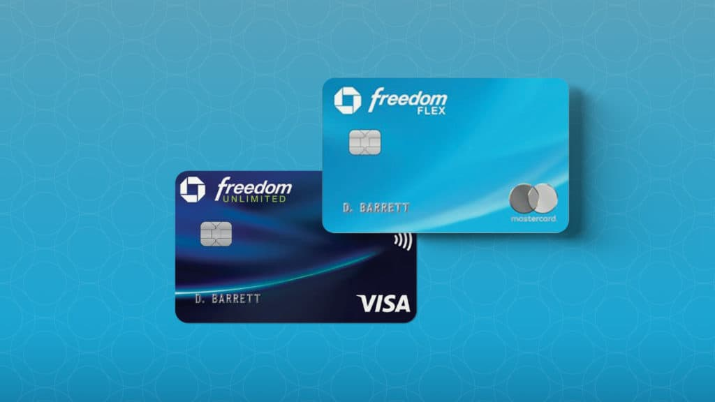 Chase Freedom Flex Card and Chase Freedom Unlimited card.